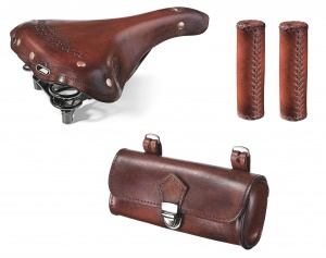 Selle Monte Grappa set de selle Charleston Oxford cuir marron 3-pièces