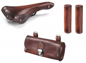 Selle Monte Grappa set de selle Charleston Sporting cuir marron 3-pièces