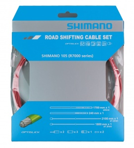 Shimano derailleur OT-SP41cable set race 1700 mm red 12-piece