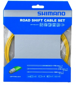 Shimano derailleur cable set OT-SP41Race 2100 mm yellow 4-piece