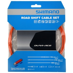 Shimano derailleur cable set OT-SP41Race 2100 mm orange 4-piece