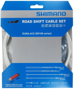 Shimano derailleur cable set RS900 2100 mm white 4-piece