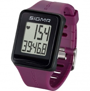 Sigma sports watch with heart rate monitor Id.go purple
