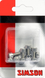 Simson Bolts M5 x 12 mm silver 5 pieces