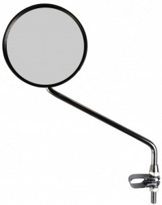 Simson black steering mirror 11 cm