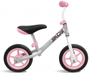 Skids Control loopfiets 10 Inch Junior Grey/Pink