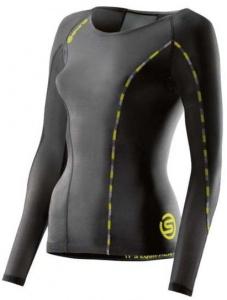 cfa2e73ccc Skins Dnamic Kompression Damen mit langen Ärmeln schwarz