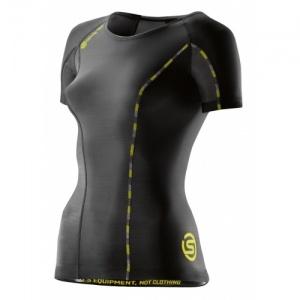 c73c6f0456 Skins Dnamic Kompression Shirt Damen Kurzarm schwarz