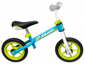 Skids Control loopfiets 10 Inch Junior Light blue/Light Green