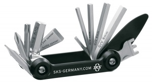 SKS multitool 14 functions 72 mm black/silver