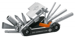SKS multitool 18 functions 73 mm black/silver