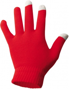 Starling gloves knitted red