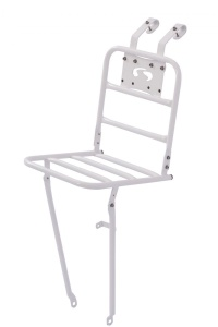 Steco front carrier 26/28 inch white steel