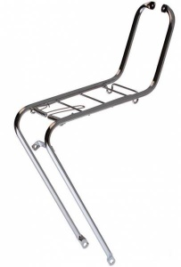 Steco front carrier 26/28 inch steel silver gray