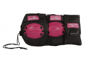 Street Runner skate protection set pink 6-piece