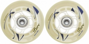 StreetSurfing Wheelset Pure Combo wit/transparant per set