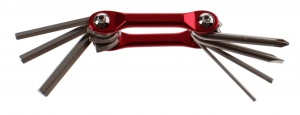 Summit multitool Pursuit Cycling 7 cm rood 7 functies