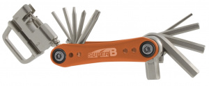 Super B multitool TB-FD40 17 functies 73 x 45 mm RVS oranje