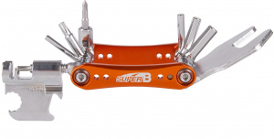 Super B multitool TB-FD55 16 functies 73 x 45 mm RVS oranje