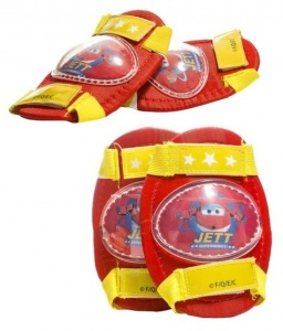 Super Wings protection set red / yellow