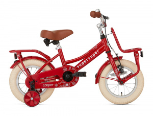 Supersuper Cooper 12 Inch 21,5 cm Girls Coaster Brake Red