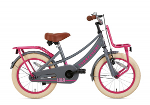 Supersuper Lola 16 Inch 25,4 cm Girls Rim Brakes Pink/Grey
