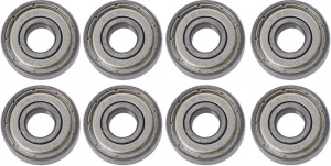 Tempish Abec 5 bearings silver 8 pieces
