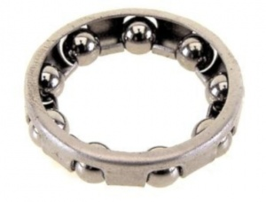 Thompson bottom bracket ball ring AS steel silver