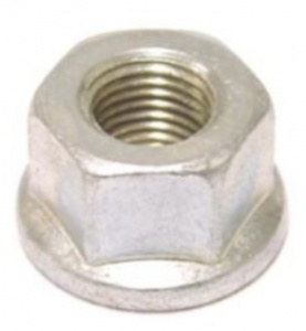 TOM axle nut VT/St 3/8 inch steel silver each