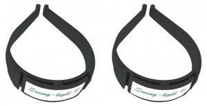 TOM trouser clamps black 2 pieces