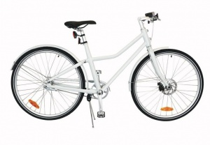 TOM City Bike Deluxe 28 Inch Unisex 2V Schijfrem Wit