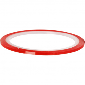 Creotime double sided adhesive power tape 10 m x 3 mm red