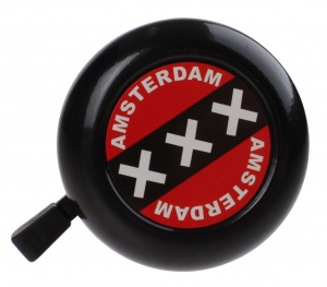 TOM amsterdam bicycle bell 50 mm black/red