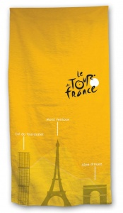 Tour De France bath towel 70 x 140 cm yellow
