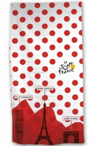Tour De France bath towel 70 x 140 cm white / red