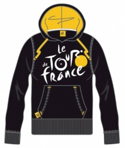 Tour De France Hooded Sweater Men Logo Yellow Black