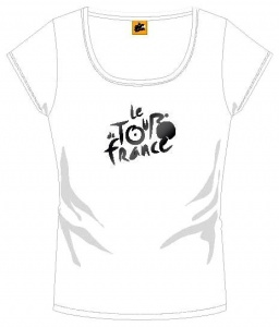 Tour De France Ladies T-Shirt With Logo White