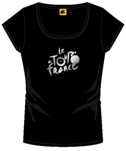 Tour de france T-Shirt With Logo Ladies Black