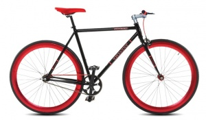 Troy Speed 28 Inch Heren V-Brake Zwart/Rood