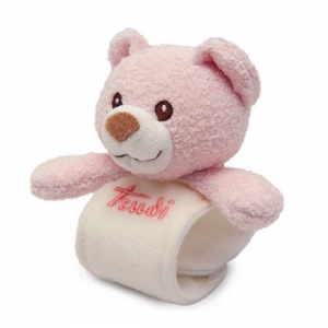 5153e7f4bac1ea Trudi Wrist rattle Cremino Bear 20 cm Pink