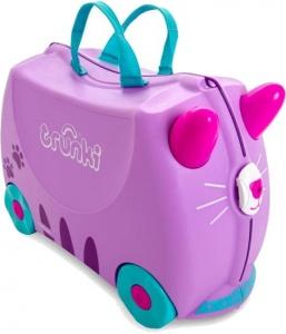 b77365f85986 Trunki ride-on suitcase Cat Cassie purple 18 liters