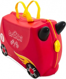 4bf239a3504f Trunki ride-on suitcase Racecar Rocco red 18 litres