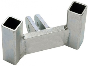 Twinny Load hitch Adapter Traditional 150mm Silber