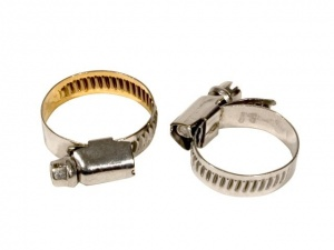 Umefa hose clamp 2 pieces 10-16 mm silver