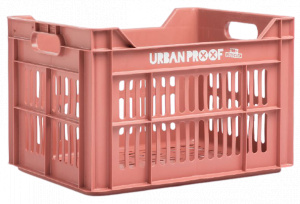 Urban Proof fietskrat 30 liter polypropyleen warm roze