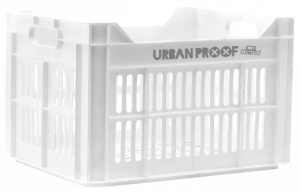 Urban Proof fietskrat 30 liter polypropyleen wit