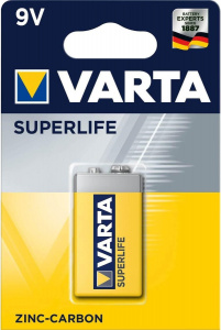 Varta batterie Superlife 6LR61 9V Zink-Kohle-Batterie