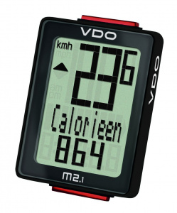 VDO bicycle M2.1 WLcomputer analogue black 10 functions