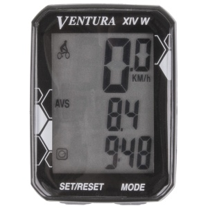 Ventura bike computer XIV Wwireless black 14 functions