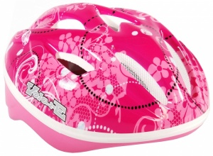 Volare casque cycliste Enfant Deluxe Floral Rose Taille 51/55 cm